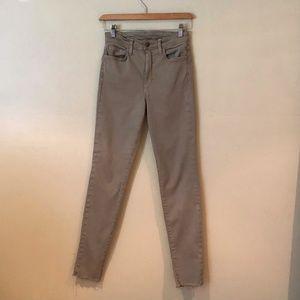 Joe's Jeans Skinny High Waisted Stretch Sand Color